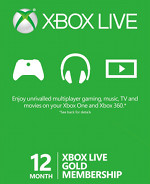 Xbox Live 12 Month Gold Card (US ACCT)