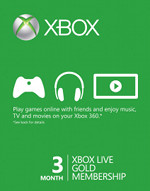 Xbox Live 3 Month Gold Card (US ACCT)