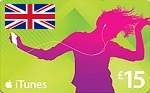 UK iTunes 15 GBP Card