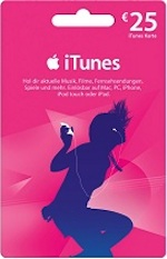 iTunes 25 Gift Card DE Germany