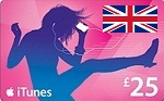 UK iTunes 25 GBP Card
