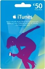 iTunes 50 Gift Card DE Germany