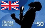 UK iTunes £50 GBP Card