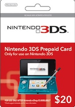 Nintendo 3DS Cash Card $20