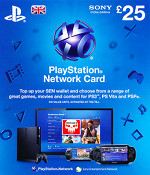 UK PSN Card 25 GBP