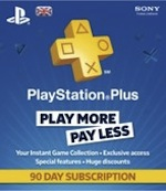UK PlayStation Plus 90 Day Subscription
