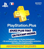 FR PlayStation Plus 90 Day Subscription