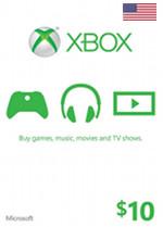 USA Xbox Live $10 Gift Card