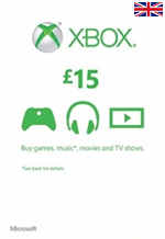 UK Xbox Live 15 GBP Gift Card