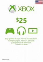 USA Xbox Live $25 Gift Card