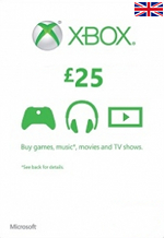 UK Xbox Live 25 GBP Gift Card