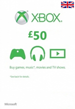 UK Xbox Live 50 GBP Gift Card