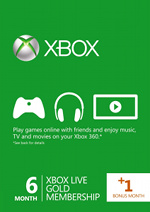 Xbox Live 6 + 1 (7) Month Gold Card