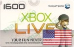 USA Xbox Live Points 1600