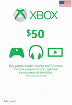 USA Xbox Live $50 Gift Card