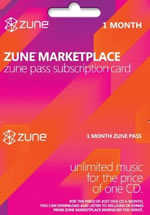 Xbox Music / Zune Pass 1 Month
