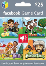 Zynga - Facebook Combo Game Card $25
