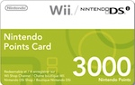 EU Wii 3000 Points Card