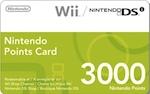 EU Wii 3000 Points Card