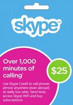 Skype Credit $25 Prepaid Card