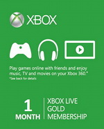 Xbox Live 1 Month Gold Card (WORLDWIDE)