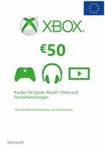 EU Xbox Live 50 EURO Gift Card